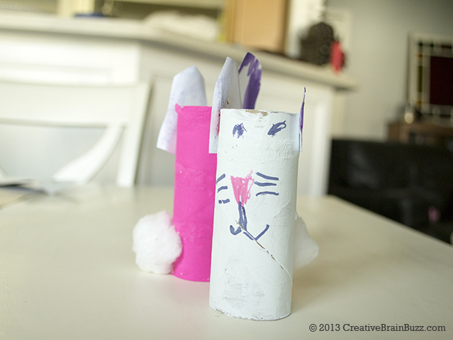 Bunny Love Craft Project by Sophia, 6 yrs old. CreativeBrainBuzz.com